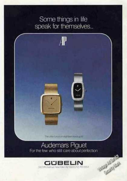 Audemars Piguet Wristwatches Gubelin (1975)