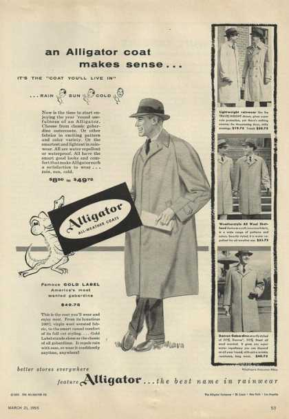 Alligator Mens Rainwear Coat (1955)