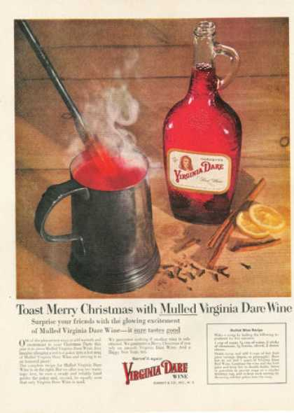 Virginia Dare Red Wine Decanter Bottle (1955)