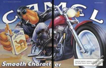 Camel Filters Joe Camel On Motorcycle Advertising (1990)