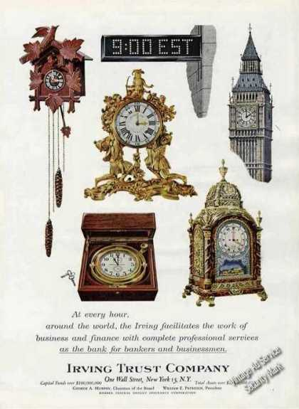 Irving Trust Company Colorful Clocks (1963)