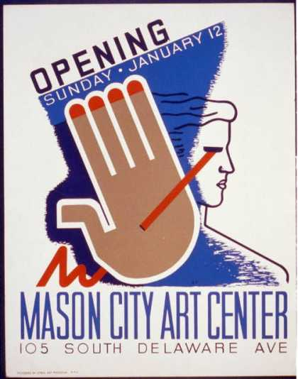 Opening Sunday – January 12, Mason City Art Center / B.F. (1941)