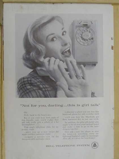 Bell Telephone system. Girl talk (1961)