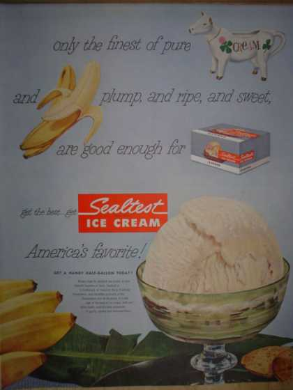 Sealtest Ice Cream Only the finest pure cream (1952)