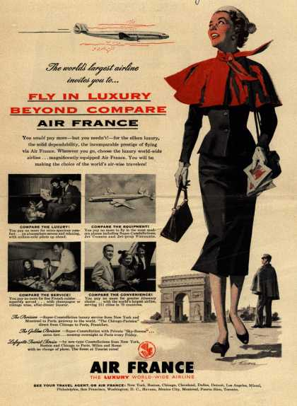 Air France – Fly In Luxury Beyond Compare, Air France (1954)
