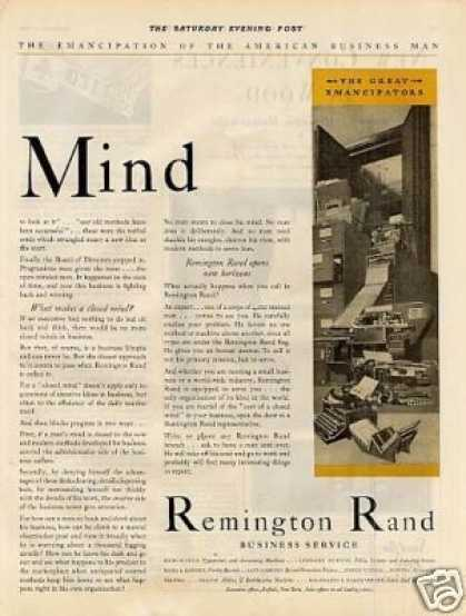 Remington Rand Business Machines Ad 2 Page (1929)