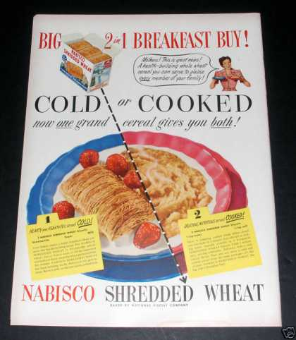 Nabisco Shredded Wheat,2 In 1, Ex (1949)