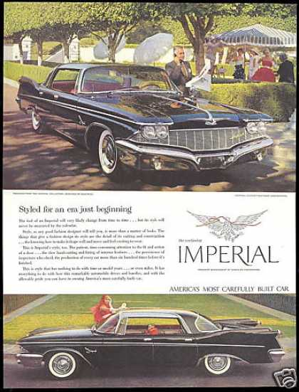 Black Chrysler Imperial 4 Door Car 2 Photo (1960)