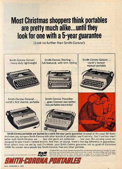 Smith-Carona (Portable Typewriters) (1963)
