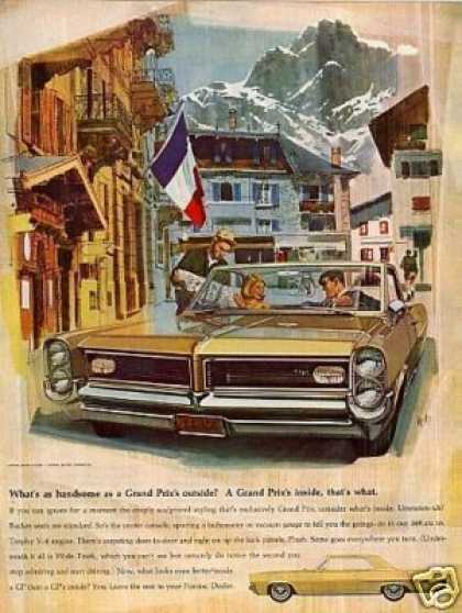 "Pontiac Grand Prix Car Ad ""What's As Handsome... (1964)"