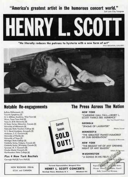 Henry L Scott Photo Pianist-humoris (1955)