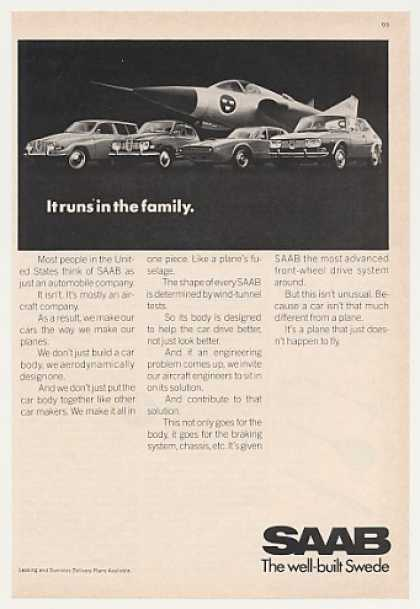 Saab Aircraft Cars Runs in the Family Photo (1970)