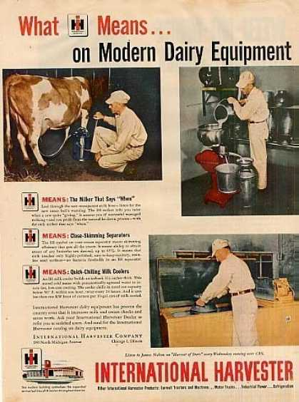 International Harvester Ad Dairy Equipment (1949)