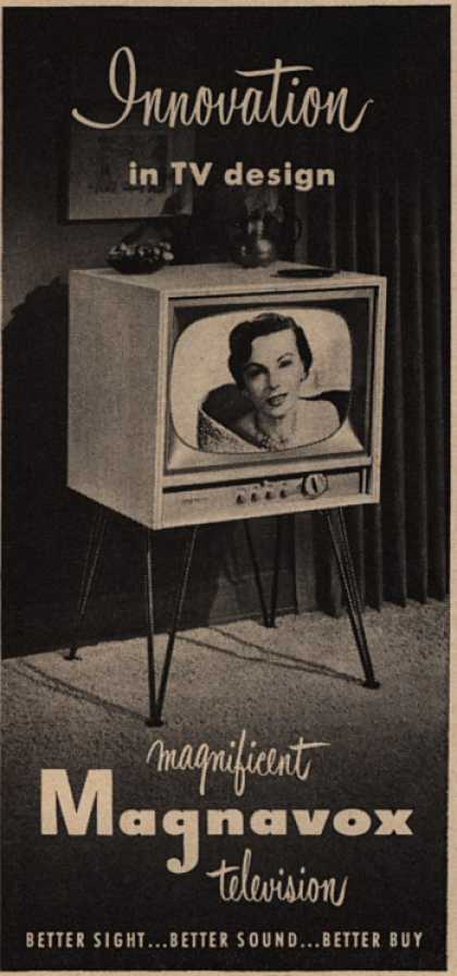 Magnavox Company's Television – Innovation in TV design (1952)