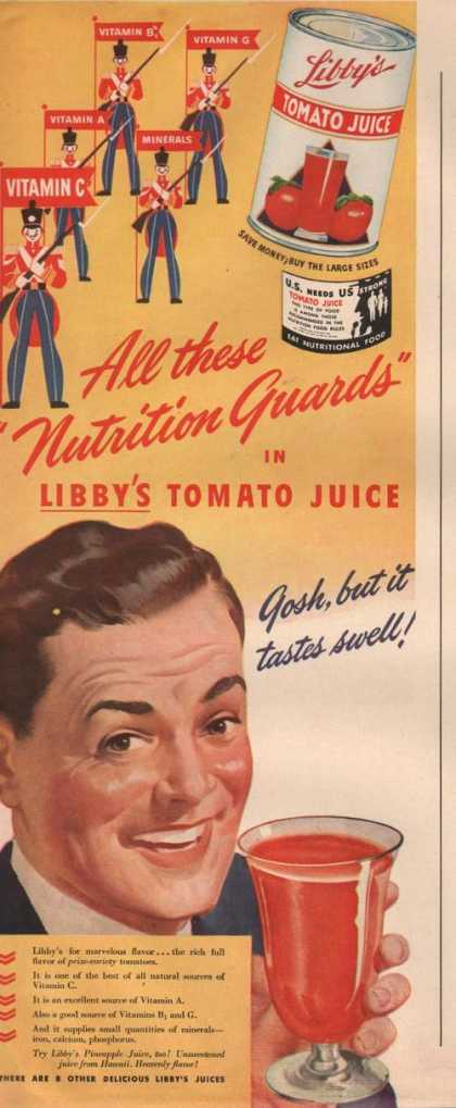 Nutrition Guards Libbys Tomato Juice (1942)