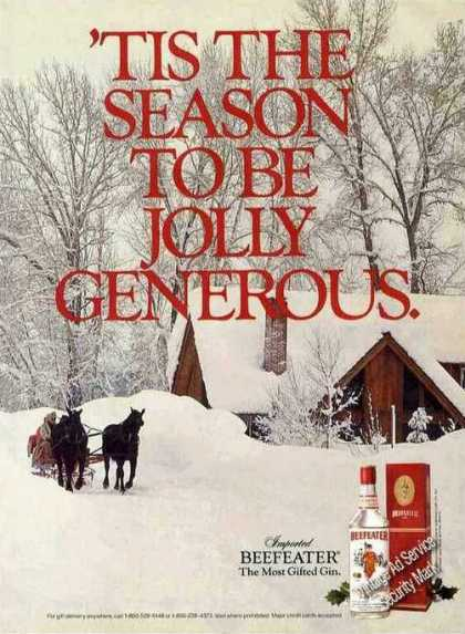 'tis the Season To Be Jolly Generous Beefeater (1985)