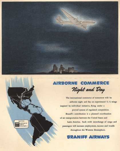 Braniff Airways &#8211; Airborne Commerce Night and Day (1946)