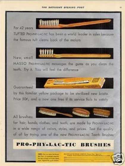 Pro-phy-lac-tic Tooth Brushes (1930)