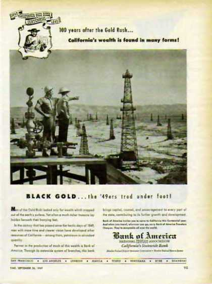Bank of America – California's Statewide Bank- Black Gold (1949)