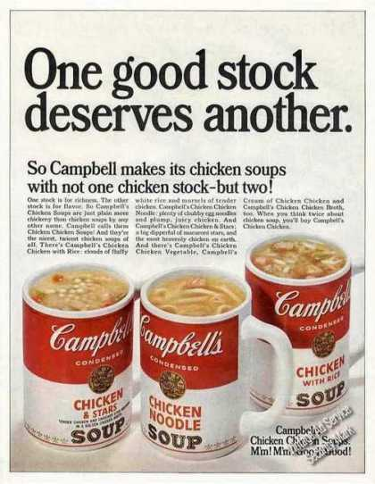 "Campbell's ""Chicken Chicken"" Soups (1968)"