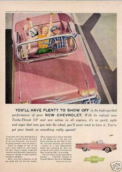 "Chevrolet Impala Convertible Ad ""You'll Have... (1958)"