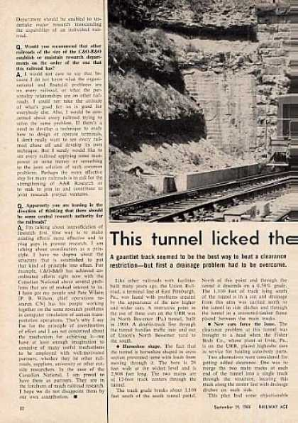 """This Tunnel Licked Problem"" Article/union Rr (1966)"