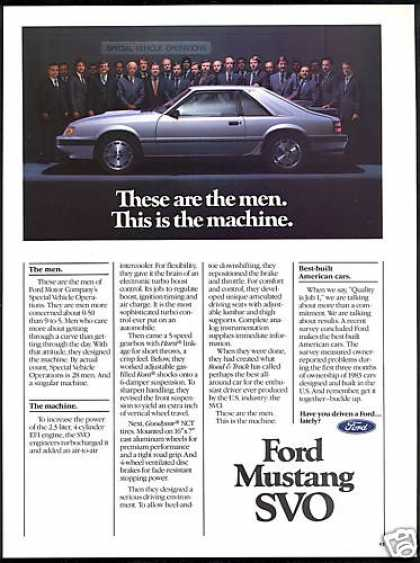 Ford Mustang SVO Car Photo (1984)