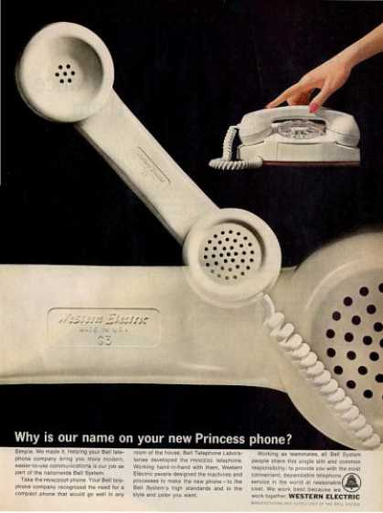 Western Electric Dial Telephone Phone Bell Ad T (1964)