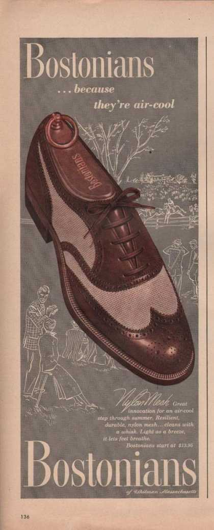 Bostonians Nylon Mesh Mens Dress Shoe (1949)