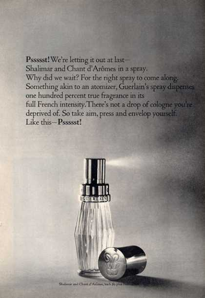Guerlain Shalimar Aromes Spray Bottle (1964)