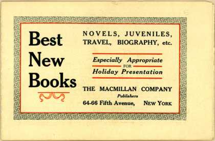 Macmillan Co.'s Novels, Juveniles, Travel, Biography, etc. – Best New Books