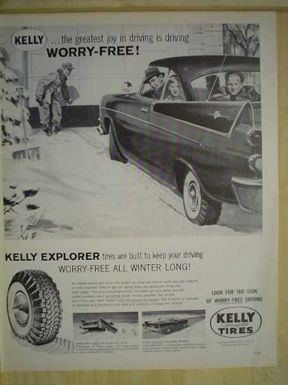Kelly Tires Explorer Worry free all winter long (1958)