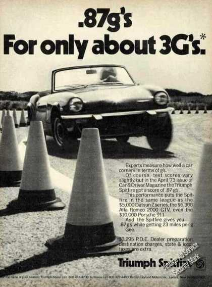 "Triumph Spitfire "".87g's for Only About 3g's"" (1974)"