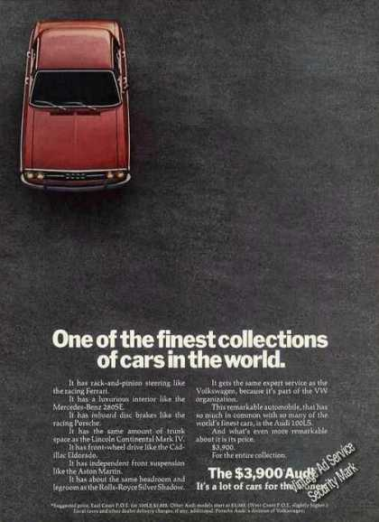 "The $3900 Audi ""Finest Collection In World"" Car (1972)"
