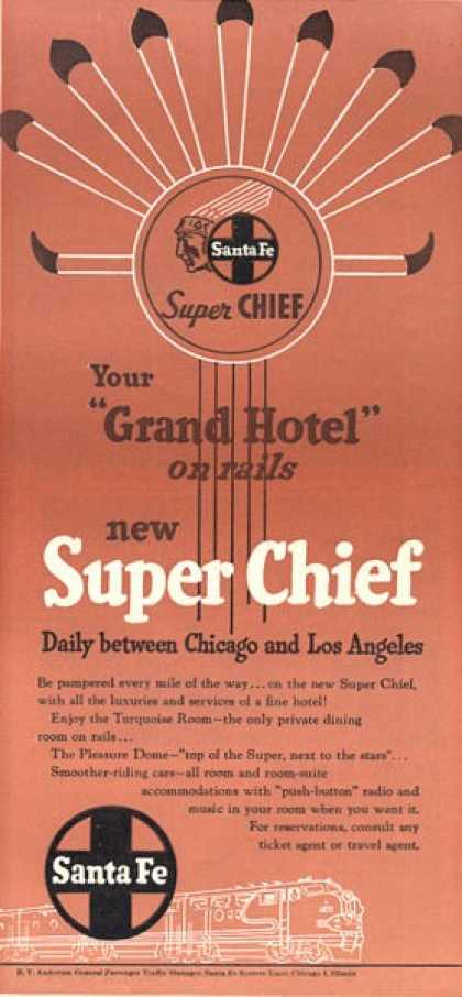 Santa Fe Super Chief Grand Hotel Train Railroad (1951)