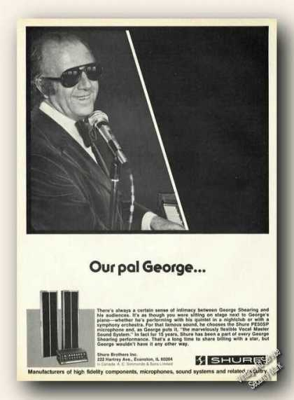 George Shearing Photo Shure Sound Systems (1976)