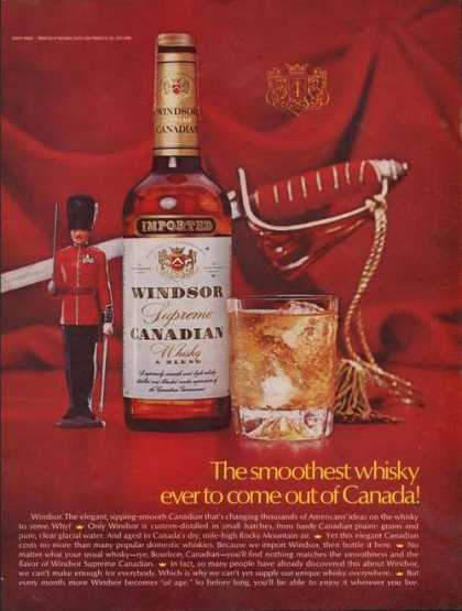 Smoothest Whisky Out of Canada Windsor (1969)