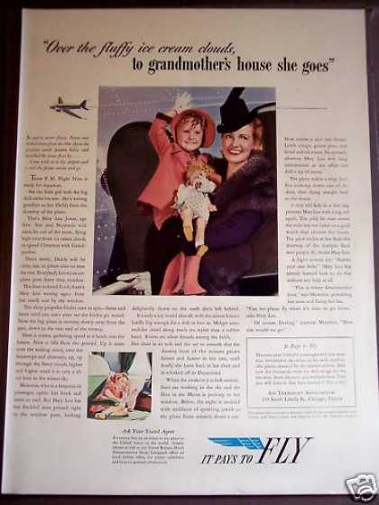 Air Transport Asso Little Girl Travels (1939)