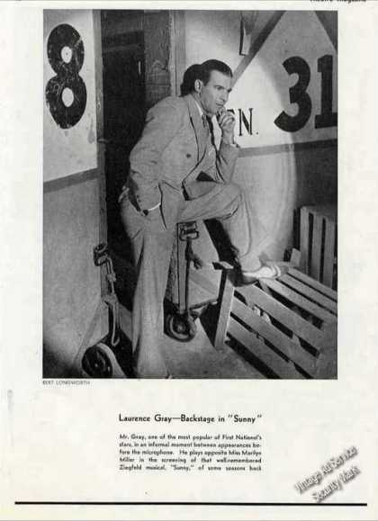 "Laurence Gray Backstage In ""Sunny"" Print Photo (1930)"