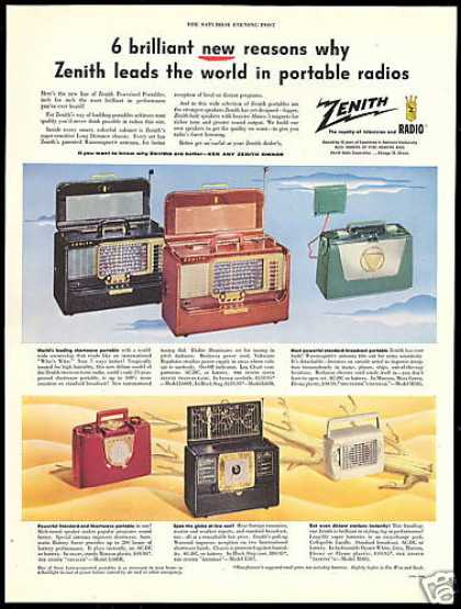 Zenith Shortwave Standard Portable Radio (1954)