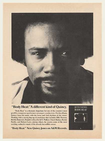 Quincy Jones Body Heat A&M Records Photo (1974)