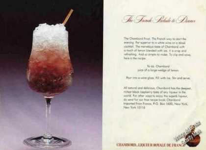 "Chambord ""The French Prelude To Dinner"" Rare (1983)"
