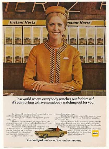 Hertz Rent a Car Girl Watching Out For You (1969)
