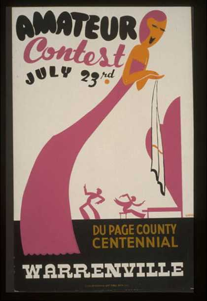 Amateur contest, July 23rd – Du Page County centennial, Warrenville / Gregg. (1936)