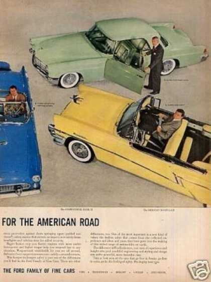 Ford Family of Fine Cars Ad 2 Page (1956)