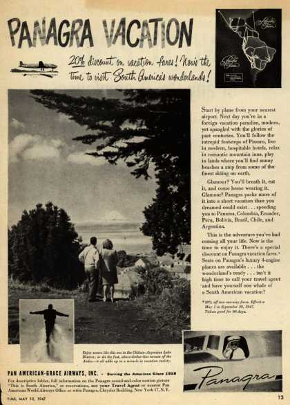 Pan American Grace Airway's South America – Panagra Vacation (1947)