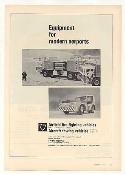 Faun Airport Fire Truck Towing Vehicle (1971)