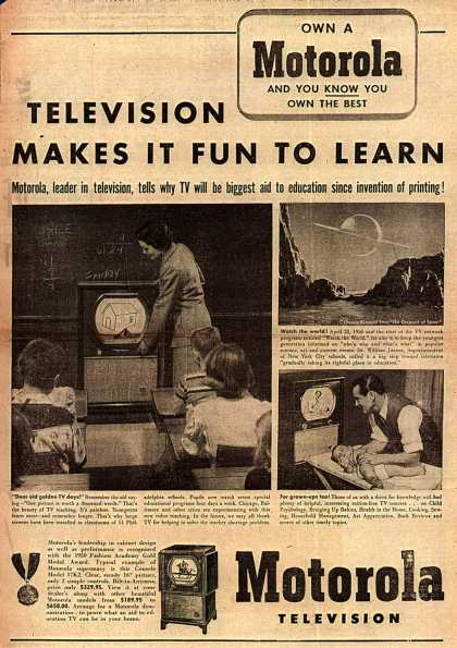 Motorola's Television – Television Makes It Fun To Learn (1950)