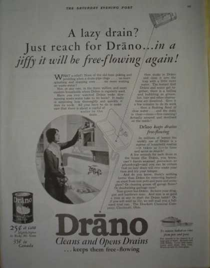 Drano Drain cleaner AND Pennsylvania Oil (1928)