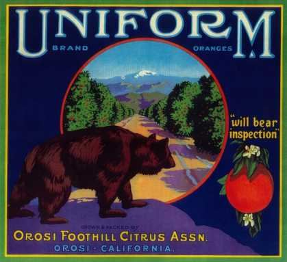 Uniform Orange Label – Orosi, CA